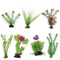 Blu Пластмасови Растение за Аквариум