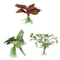 Blu Копринени Растение за Аквариум