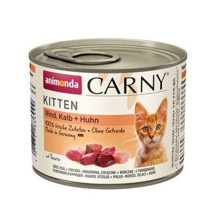 Carny Kitten Храна за Котенца с Говеждо, Телешко и Пилешко