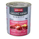 GranCarno Sensitive Храна за Кучета с Говеждо и Картофи