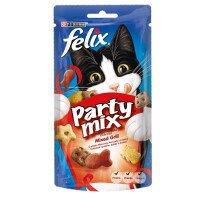 Felix Party Mix Grill Mix Лакомство за Котки с Микс от Говеждо, Пилешко и Сьомга 60 g