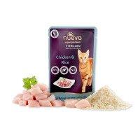 NUEVO Pouch Храна за Кастрирани Котки Пиле с Ориз 85 g