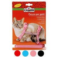 Camon Комплект Повод и Нагръдник за Котка в Различни Цветове